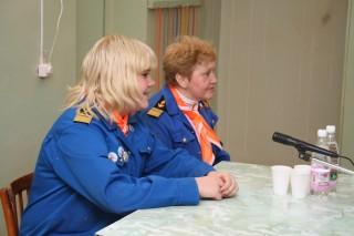 Оля Шардакова и Елена Орлова на Пресс-конференции