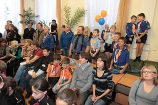 На вручении литературной премии имени В.П. Крапивина