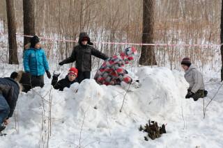 Защитники снежной крепости