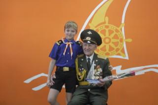 Ветеран войны с внуком Егором