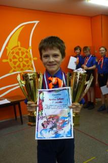 Артем Зубков с наградами за турнир