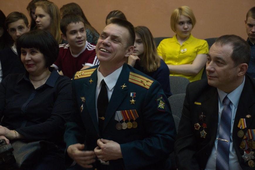 На встрече с Героем России Сергеем Николаевичем Ворониным